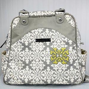 Petunia Pickle Bottom grey Sashay Satchel backpack